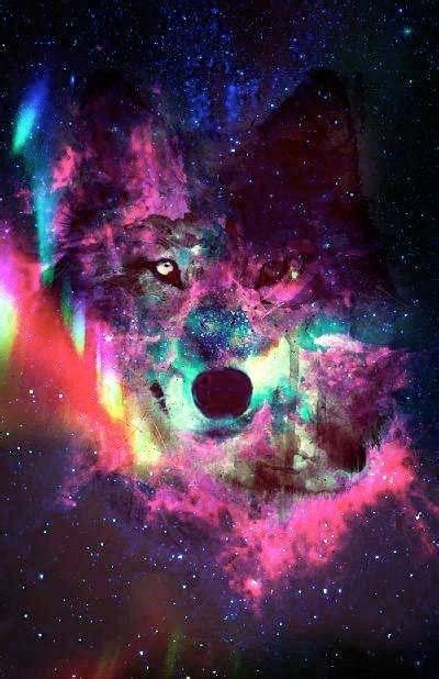 Galaxy Animal Wallpaper - wolf in galaxy background perty ain t it