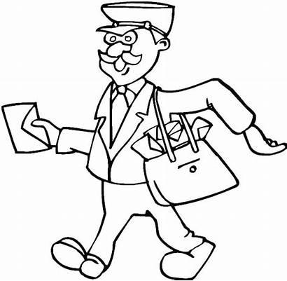 Coloring Pages Job Postman Nut Jobs Careers