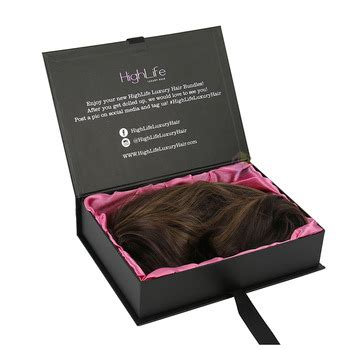 hair extension luxury packaging matte black box buy luxury packaging matte black box hair