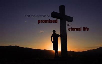 Eternal Christian Cross Promised He Wallpapers Christianity