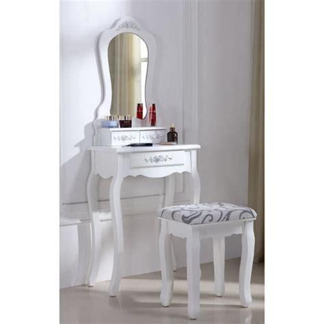 siege coiffeuse coiffeuse blanche avec siège et miroir 53 achat vente