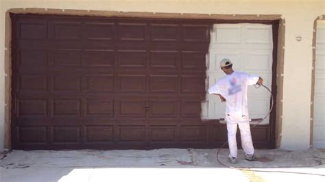 How To Paint A Metal Garage Door by Painting A Metal Garage Door And Preparing Metal Garage