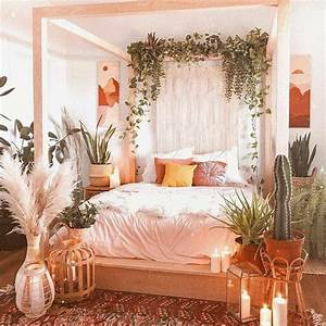Bohemian, Bed, Designs, With, Exposed, Boho, Beam