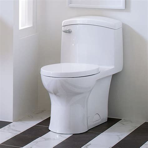 One Piece Toilet  Roycroft Onepiece Elongated Toilet. Steampunk Lamps. Premium Cabinets. Stair Design. Linen Tile. Tall Nightstands. White Kitchen Cabinets With Granite Countertops. Taj Mahal Quartzite Countertop. Home Depot Bathroom Tile