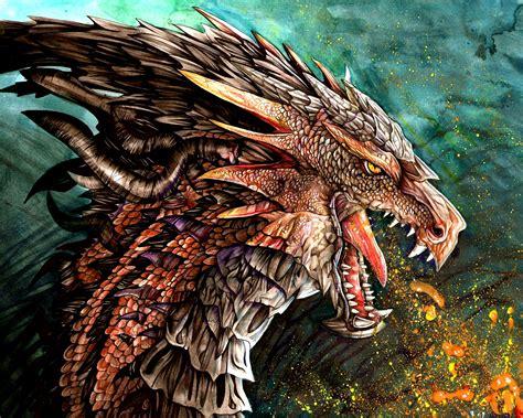 Increíble Dragón Escupiendo Fuego  Imagenes Y Carteles