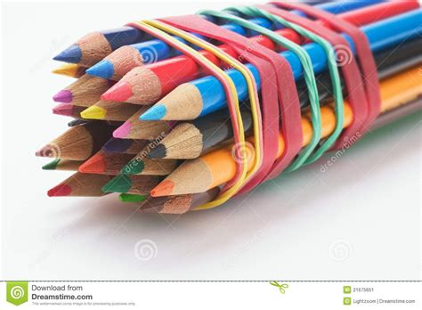Bundle of Color Pencils stock image. Image of colouring - 21675651