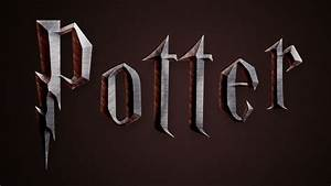 harry potter text effect in photoshop deathly hallows With harry potter 3d letters