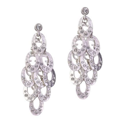 ingenious silver chandelier earrings with hammered ovals