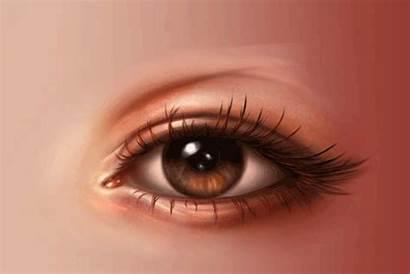 Olhos Eye Paint Realistic Adobe Iris Passo