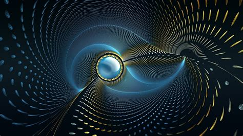 Spiral Wallpaper Anime - digital abstract circle cgi blue background