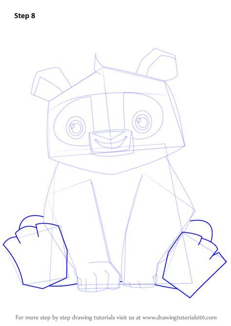learn   draw panda  animal jam animal jam step