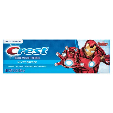 crest marvel 39 s avengers kid 39 s toothpaste in minty breeze