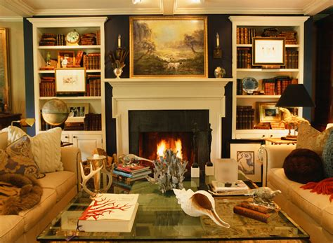 built in bookshelves traditional living room jean