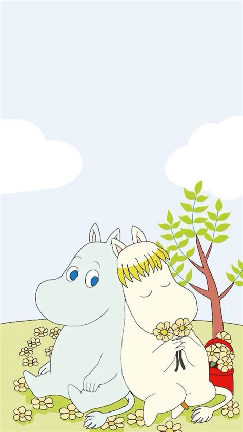 wallpaper cute cartoon pinterest moomin wallpaper