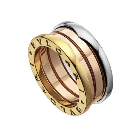 bvlgari b zero 1 band ring in 18ct white gold 4 b zero 1 18ct white pink yellow gold three band ring