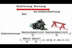 Bremsweg Berechnen : video anhalteweg vom motorrad richtig berechnen ~ Themetempest.com Abrechnung