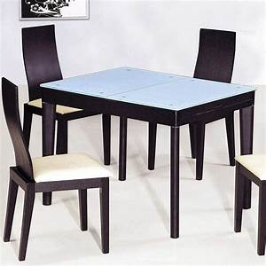 Contemporary functional dining room table in black wood for Kitchen dining table