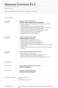 resume for pa school physician resume sles visualcv resume sles database