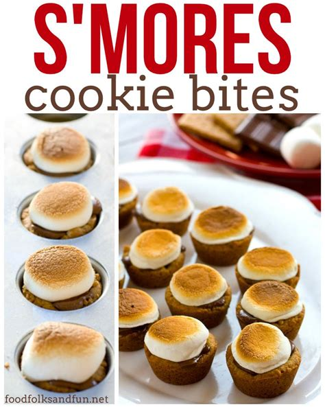 treats to make s mores cookie bites food folks and fun