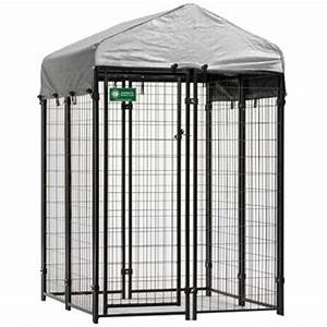 american kennel club 4 ft x 4 ft x 6 ft boxed kennel With dog house kits home depot