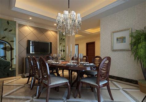 Chandelier Dining Room Over Dark Brown Dining Table Sets