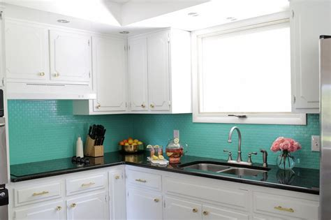 painting kitchen tiles how to paint a tile backsplash a beautiful mess 4059