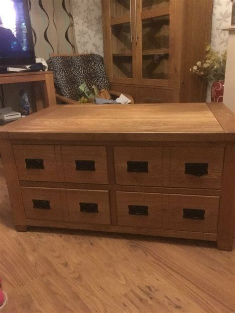 Although the sizes are various, that multiple drawers always being their special feature. Apothecary style multi drawer solid oak coffee table | in Gorton, Manchester | Gumtree