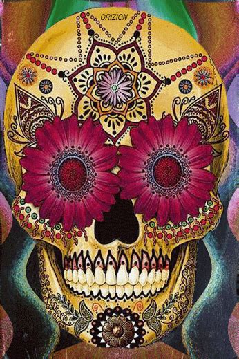 trippy skull gif pictures   images  facebook