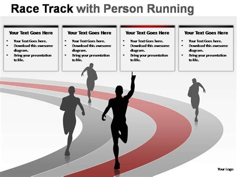 race track  person running powerpoint