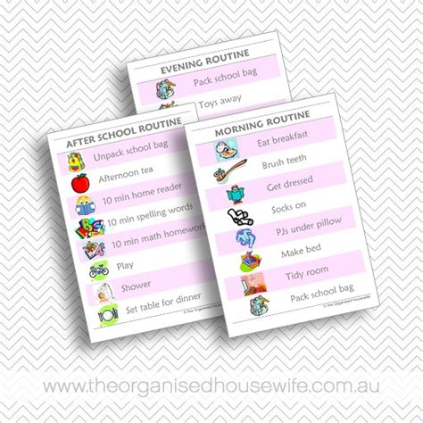 kids routine charts bundle  organised housewife shop