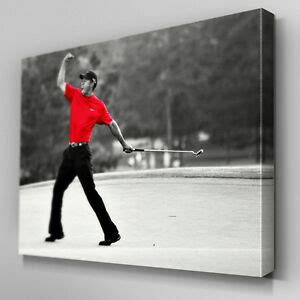S559 Tiger Woods Golf Legend Masters Canvas Art Ready to ...
