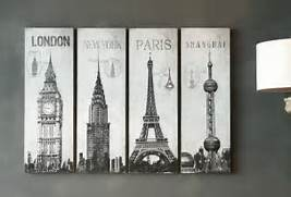 Large Wall Art Ideas by Inspiring Set Of 4 Pieces Large Wall Art Hang On Grey Wall Painted As Midcent