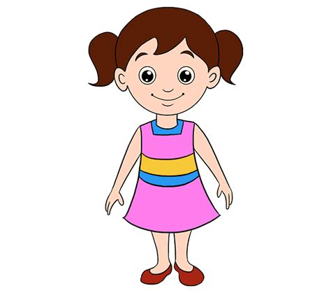 draw  cartoon girl    easy steps easy