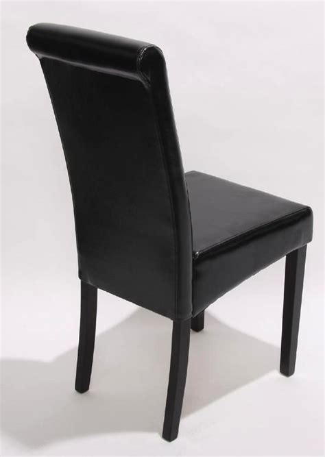 chaise cuir noir chaise de salle a manger en cuir noir