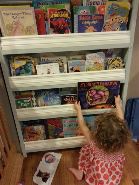 ana white childrens ladder bookshelf diy projects