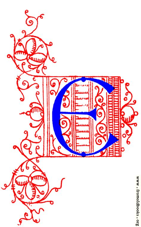 decorative uncial initial letter   fifteenth century