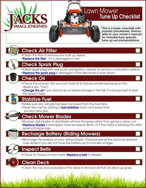 12 by 12 shed lawn mower tune up checklist 39 s diy