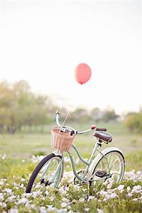 Romantic Vintage Bicycle Lakeside Flower Field Engagement ...