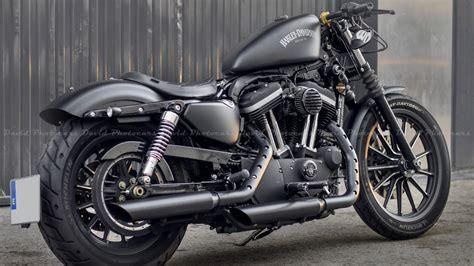 Harley Davidson Iron 883 Custom & Exhaust Sound!