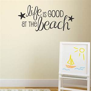 life is good at the beach wall quotestm decal wallquotescom With inspiring beach themed wall decals