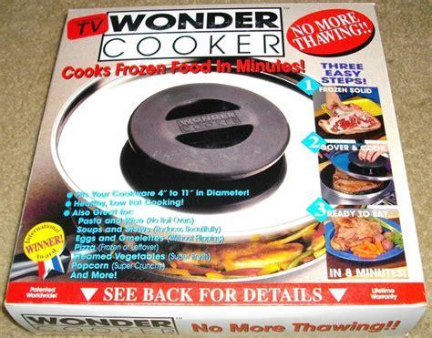 Food Preparation: Wonder Cooker Miracle Lid No More
