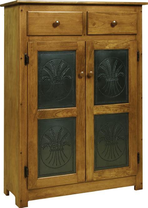 pine wood pie safe  tin doors  dutchcrafters amish