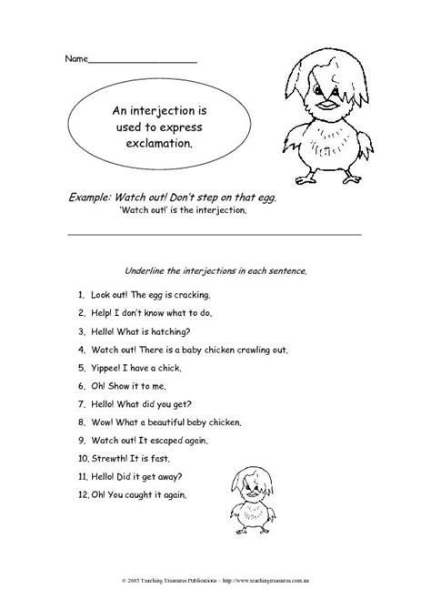 Interjections Worksheet  Lesson Planet  Fifth Grade  Pinterest  Teacher Worksheets, Lesson