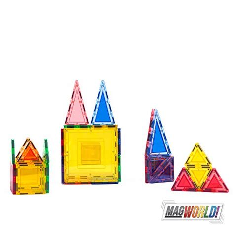 magworld toys 32 piece designer magnetic tile building set