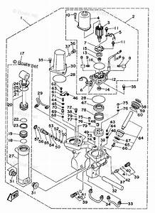 Yamaha Outboard Parts By Hp 75hp Oem Parts Diagram For Power Trim Tilt Assembly 1