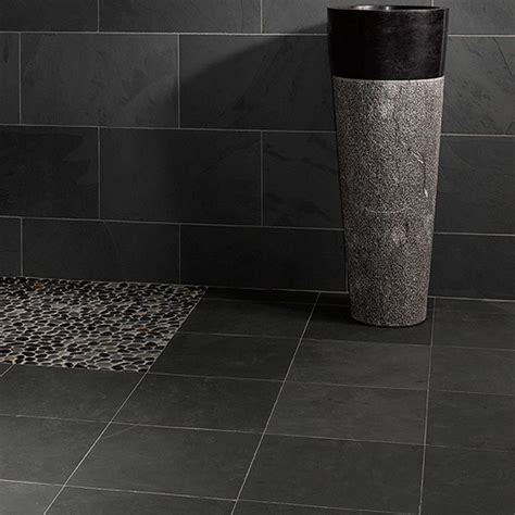 dalles carrelages ardoise grise 40x40 indoor by