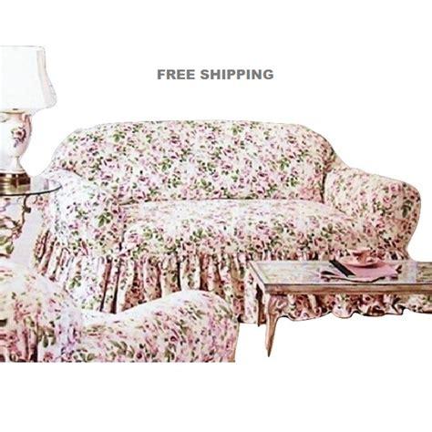 simply shabby chic floral jacquard sofa slipcover rachel ashwell loveseat slipcover rosalie pink floral simply shabby chic cover