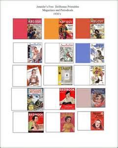Miniature Magazines Dollhouse Printables Books