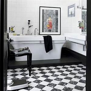 checkered black and white marble bathroom floor decozilla With black and white checkered tile bathroom