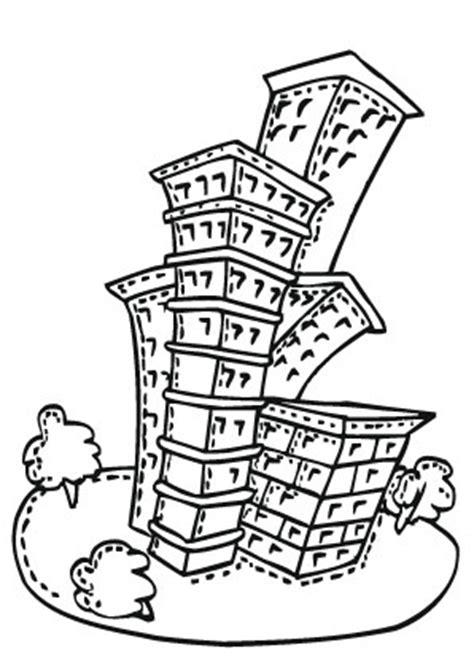 Ausmalbilder Altes Hochhaus  Hochhäuser Malvorlagen
